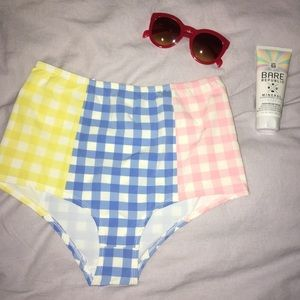 J. Crew high-waisted gingham bottoms, S, L